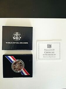 1994 WORLD CUP COMMEMORATIVE HALF DOLLAR PROOF WITH COA