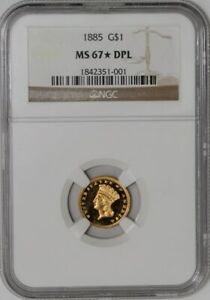 Click now to see the BUY IT NOW Price! 1885 $ GOLD INDIAN DOLLAR 937521 1 MS67  DPL DMPL NGC