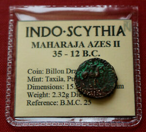 Click now to see the BUY IT NOW Price! GENUINE INDO SCYTHIAN AZES II BILLON DRACHM ZEUS 12BC