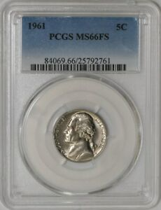 Click now to see the BUY IT NOW Price! 1961 JEFFERSON NICKEL 5C 941560 2 MS66 FS PCGS
