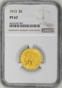 Click now to see the BUY IT NOW Price! 1913 INDIAN HEAD $5 NGC PR 67