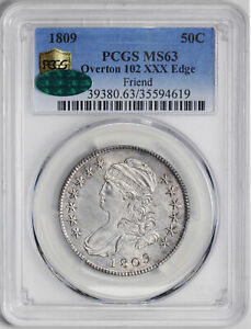 Click now to see the BUY IT NOW Price! 1809 CAPPED BUST 50C PCGS MS 63