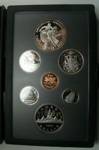 1983 CANADA PROOF SET     DOUBLE DOLLAR SET     EDMONTON    BOX AND COA