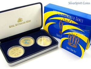 2002 MANCHESTER XV11 COMMONWEALTH GAMES 3 COIN SET