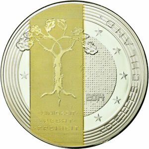 [710603] GERMANY MEDAL 5 GULDENMARK 2014 MS 65 70  COPPER PLATED SILVER