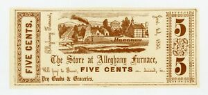 1856 5C THE STORE AT ALLEGHANY FURNACE   PENNSYLVANIA NOTE CH.AU