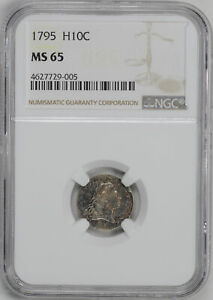 Click now to see the BUY IT NOW Price! 1795 FLOWING HAIR H10C NGC MS 65