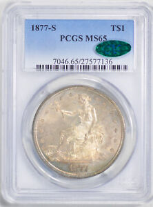 Click now to see the BUY IT NOW Price! 1877 S TRADE T$1 PCGS MS 65