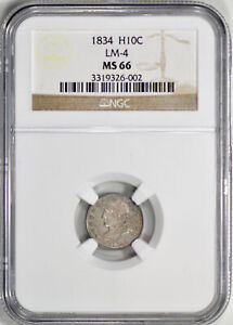 Click now to see the BUY IT NOW Price! 1834 CAPPED BUST H10C NGC MS 66