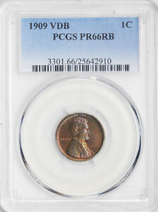 Click now to see the BUY IT NOW Price! 1909 VDB LINCOLN MATTE 1C PCGS PR 66 RB