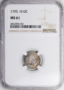 Click now to see the BUY IT NOW Price! 1795 FLOWING HAIR H10C NGC MS 61
