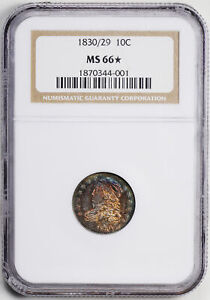 Click now to see the BUY IT NOW Price! 1830/29 CAPPED BUST 10C NGC MS 66