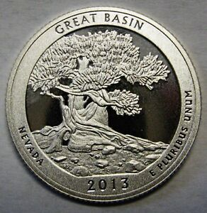 2013 S GREAT BASIN NEVADA GEM DCAM CLAD PROOF PARKS QUARTER STUNNING COIN