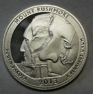 2013 S MOUNT RUSHMORE SOUTH DAKOTA GEM DCAM CLAD PROOF PARKS QUARTER