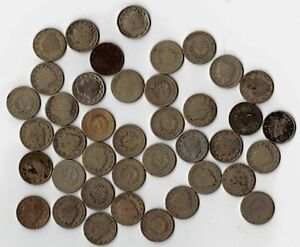 40 MIXED CIRCULATED LIBERTY V NICKELS BARGAIN PRICED WITH