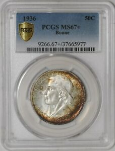 Click now to see the BUY IT NOW Price! 1936 BOONE 50C 941598 14 MS67  SECURE PLUS PCGS