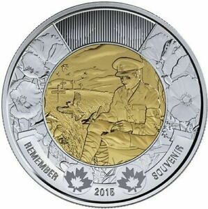2015 CANADA REMEMBRANCE DAY POEM IN FLANDERS FIELDS $2 CANADIAN UNC