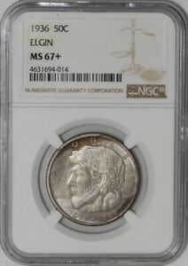 Click now to see the BUY IT NOW Price! 1936 ELGIN 50C 939459 34 MS67  NGC