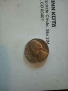 1949 D UNITED STATES JEFFERSON NICKEL 5C COIN