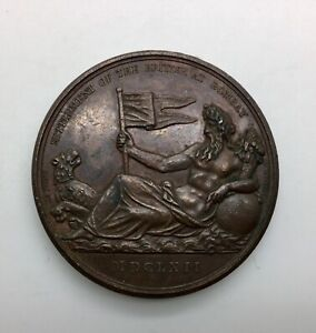 Click now to see the BUY IT NOW Price! SETTLEMENT OF THE BRITISH AT BOMBAY 1602 EIC VICTORY 1804 MEDAL BHM567 EIMER 952
