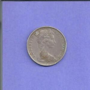 1971   AUSTRALIA   5 CENTS   F VF   QUEEN ELIZABETH   $1 SHIPPING