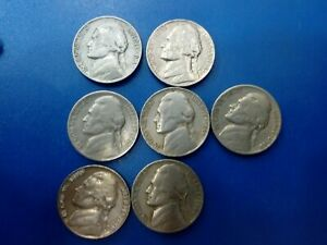 USA COIN LOT OF 5 CENTS 7 PCS  794