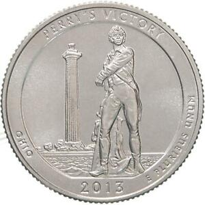 2013 P PARKS QUARTER ATB PERRY'S VICTORY PEACE MEMORIAL GEM BU CN CLAD US COIN