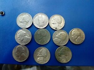 USA COIN LOT OF 5 CENTS 10 PCS  681
