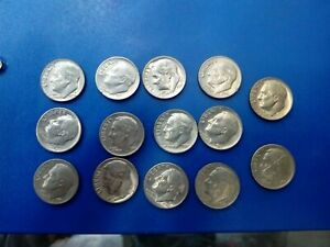 USA COIN LOT OF DIME 13 PCS  682