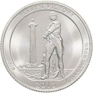 2013 S PARKS QUARTER ATB PERRY'S VICTORY PEACE MEMORIAL BU CN CLAD US COIN