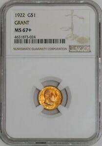 Click now to see the BUY IT NOW Price! 1922 $ GOLD GRANT DOLLAR  MS67  NGC   941375 6