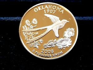 2008 S OKLAHOMA STATE QUARTER FROM PROOF SET NOT ROLL  G 18 19