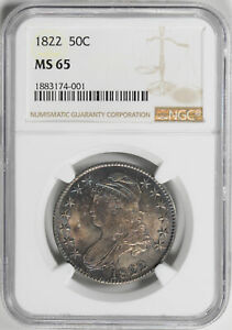 Click now to see the BUY IT NOW Price! 1822 CAPPED BUST 50C NGC MS 65