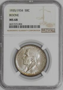 Click now to see the BUY IT NOW Price! 1935/1934 BOONE 50C MS68 NGC   939129 24