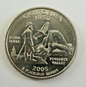 USA 2005P CALIFORNIA STATE QUARTER 25 CENT COIN