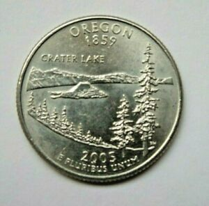 USA 2005P OREGON STATE QUARTER 25 CENT COIN