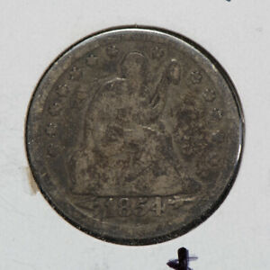 1854 25C SEATED LIBERTY QUARTER WITH ARROWS LOTN478