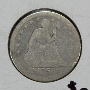 1853 25C SEATED LIBERTY QUARTER WITH ARROWS & RAYS LOTN464