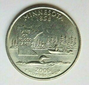 USA 2005P MINNESOTA STATE QUARTER 25 CENT COIN