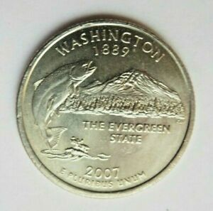 USA 2007P WASHINGTON STATE QUARTER 25 CENT COIN