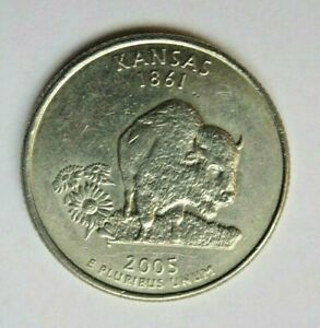 USA 2005P KANSAS STATE QUARTER 25 CENT COIN