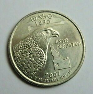USA 2007P IDAHO STATE QUARTER 25 CENT COIN