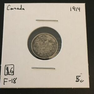 1914 5 CENT CANADA  MUST SEE      COIN 265