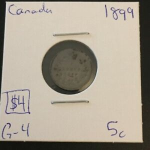 1899 5 CENT CANADA  MUST SEE      COIN 323