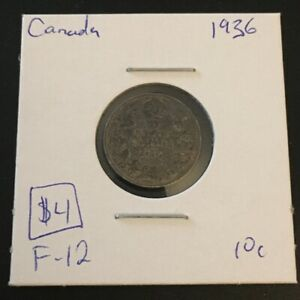1936 10 CENT CANADA     COIN 818