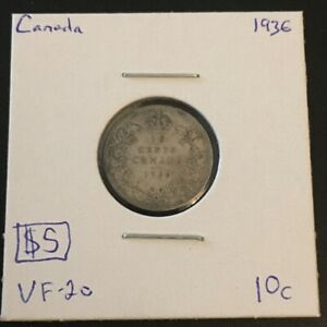 1936 10 CENT CANADA     COIN 314