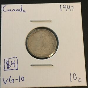 1947 10 CENT CANADA     COIN 298