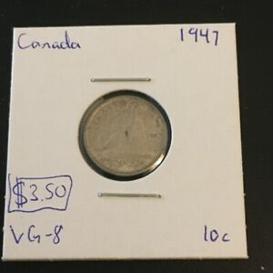 1947 10 CENT CANADA     COIN 297