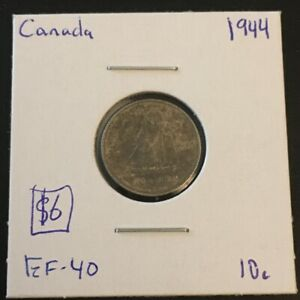 1944 10 CENT CANADA     COIN 296