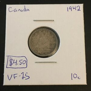 1942 10 CENT CANADA     COIN 295
